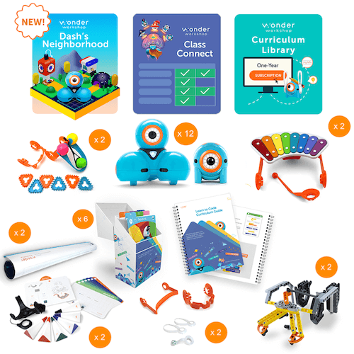 Wonder Workshop K-5 Tech Center Pack w/ Class Connect Subscription Smart Toys Wonder Workshop