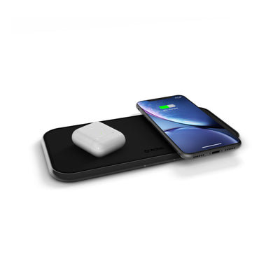 ZENS Aluminium Dual Wireless Charger 10W Accessories Zens
