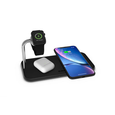ZENS Aluminium Dual Wireless Charger + Watch 10W Accessories Zens