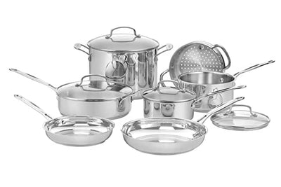 Cuisinart 77-11G 11-Piece Chef's Classic Cookware Set