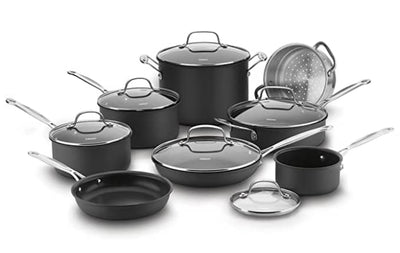 Cuisinart 66-14N Chef's Classic Non-Stick Hard Anodized 14-Piece Cookware Set
