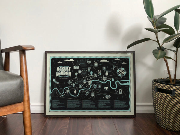 Welcome To The Dark Side map print