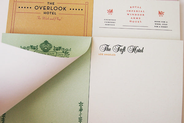 Hotel notepads (set)