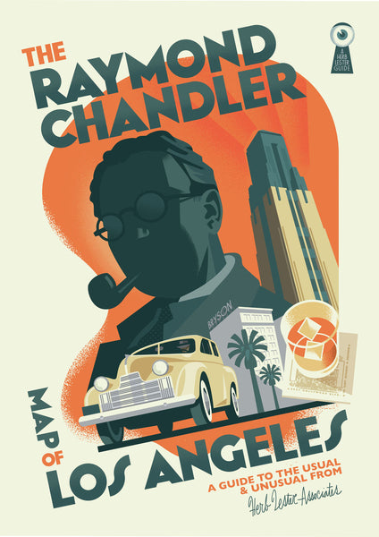 Raymond Chandler Map Of LA print