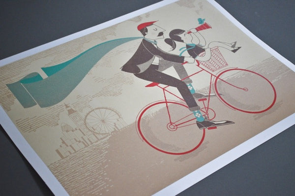 A Lovely Day screenprint