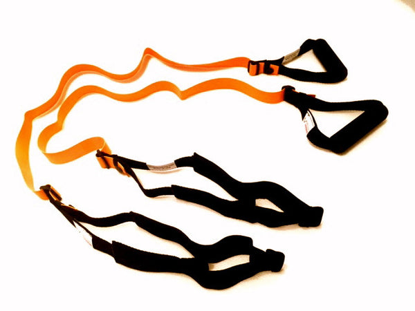 HANDIBANDS Set of Light to Moderate Pilates Adjustable Resistance Bands