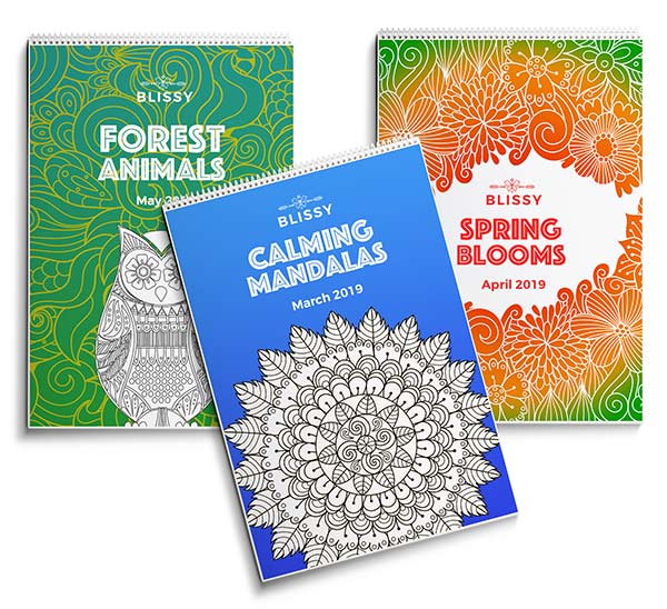 Monthly Blissy Colouring Book Subscription