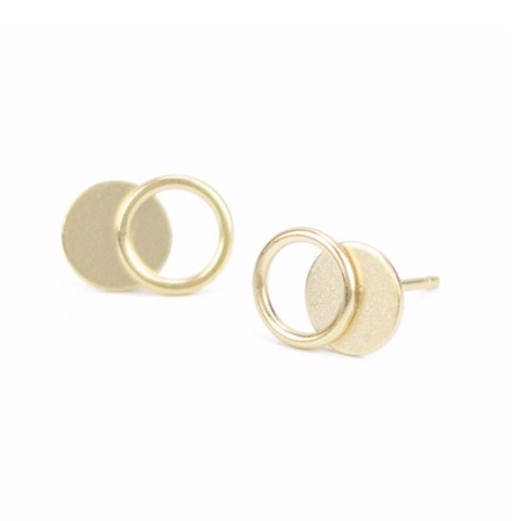 Tiny Venn Stud Earrings