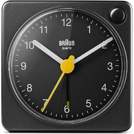 Braun Travel Alarm Clock - Black