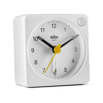 Braun Travel Alarm Clock - White