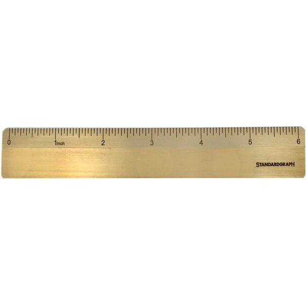 DUX Brass Ruler - inch scale