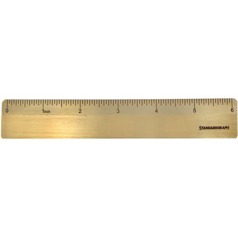 Brass Ruler - inch scale  ON ORDER