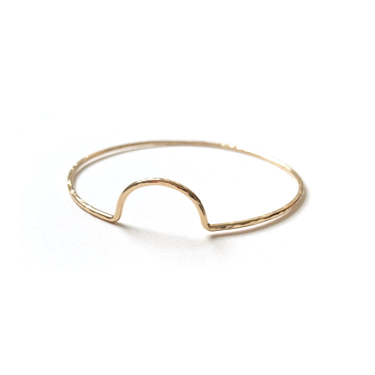 Hammered Arc Bangle