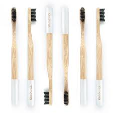Bamboo Charcoal Toothbrush - White