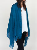 Haolu Cotton Wool Stole - Indigo