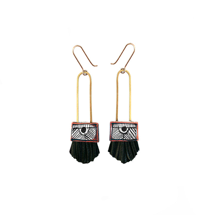 Regalo Shortie Earrings - Black
