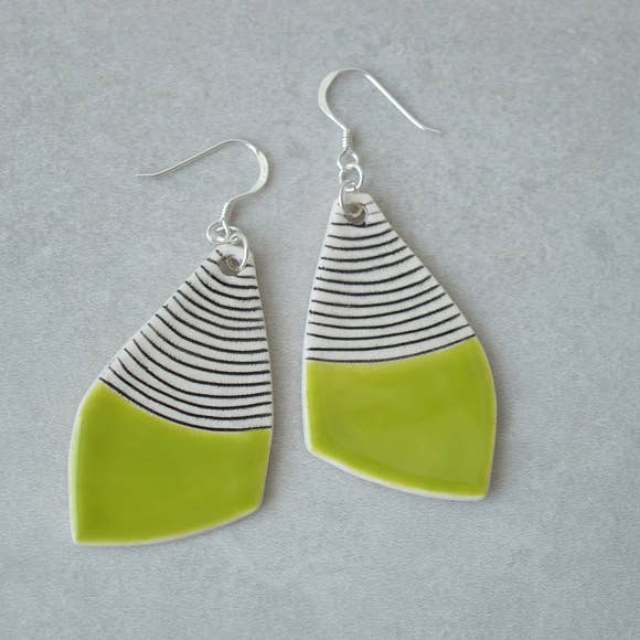 Lime Green Dangle Earrings