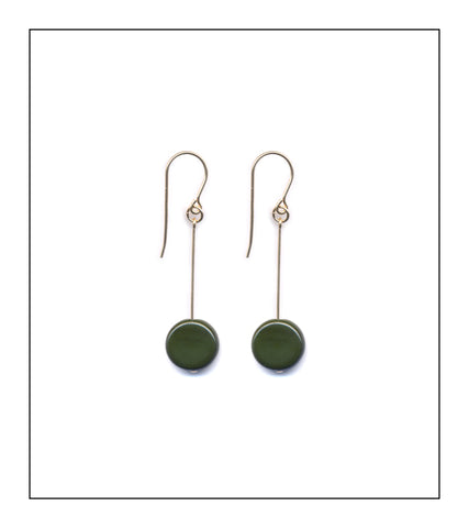 Forest Circle Drop Earrings