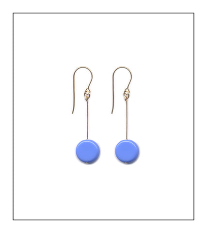 Periwinkle Circle Drop Earrings