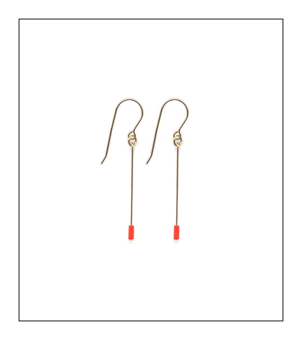 Red Line Earrings
