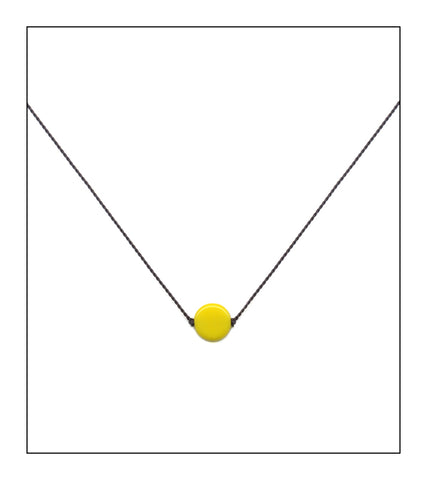 Yellow Dot Necklace