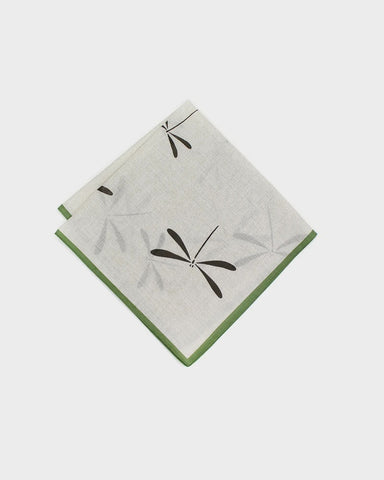 Japanese Handkerchief - Green + Charcoal Tombo