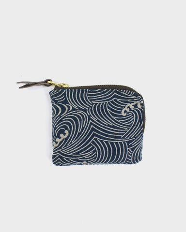 Zipper Wallet - Indigo Nami