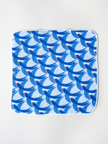 Haikara Little Handkerchief - Blue Birds