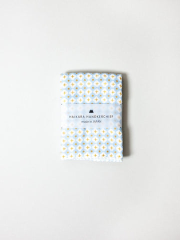 Haikara Little Handkerchief - Cross Blue