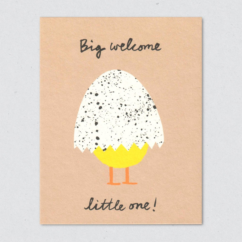 Big Welcome Baby Notecard