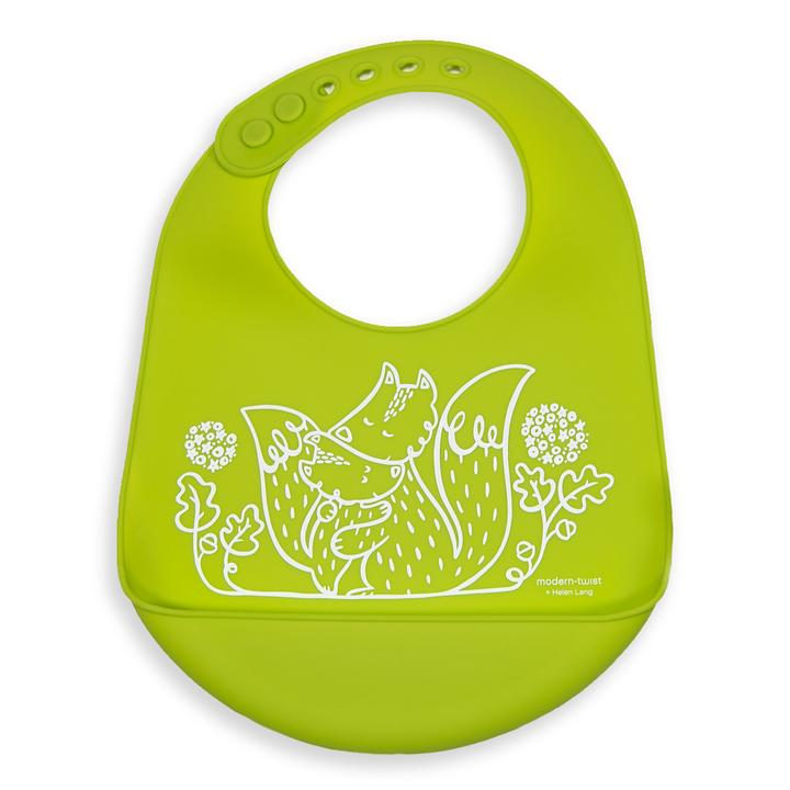 Foxes Bucket Bib
