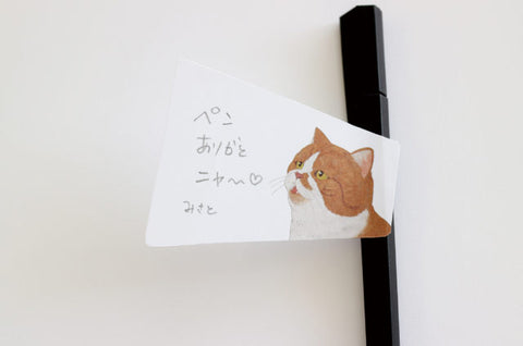 Animal Voice Sticky Notes - Scottish Fold Cat