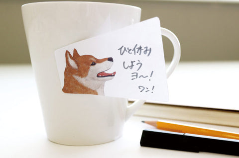 Animal Voice Sticky Notes - Shiba Inu