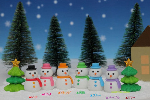 Snowman/Christmas Tree Erasers - Sold Individually