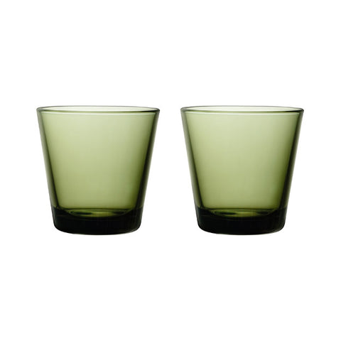 Kartio Tumblers - Set of Two, Moss Green