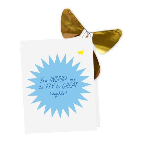 Happy Father's Day Card + Magic Flying Butterfly