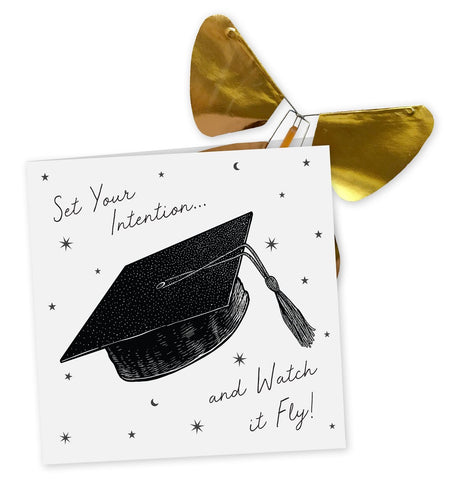 Graduation Day Card + Magic Flying Butterfly
