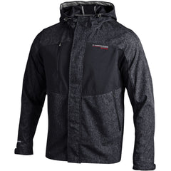 Under Armour Men's Mixed Hooded SoftShell Jacket - Black and Stealth Gray