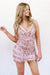 rose gold short sequin dress