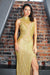 gold beaded miss universe pageant dress