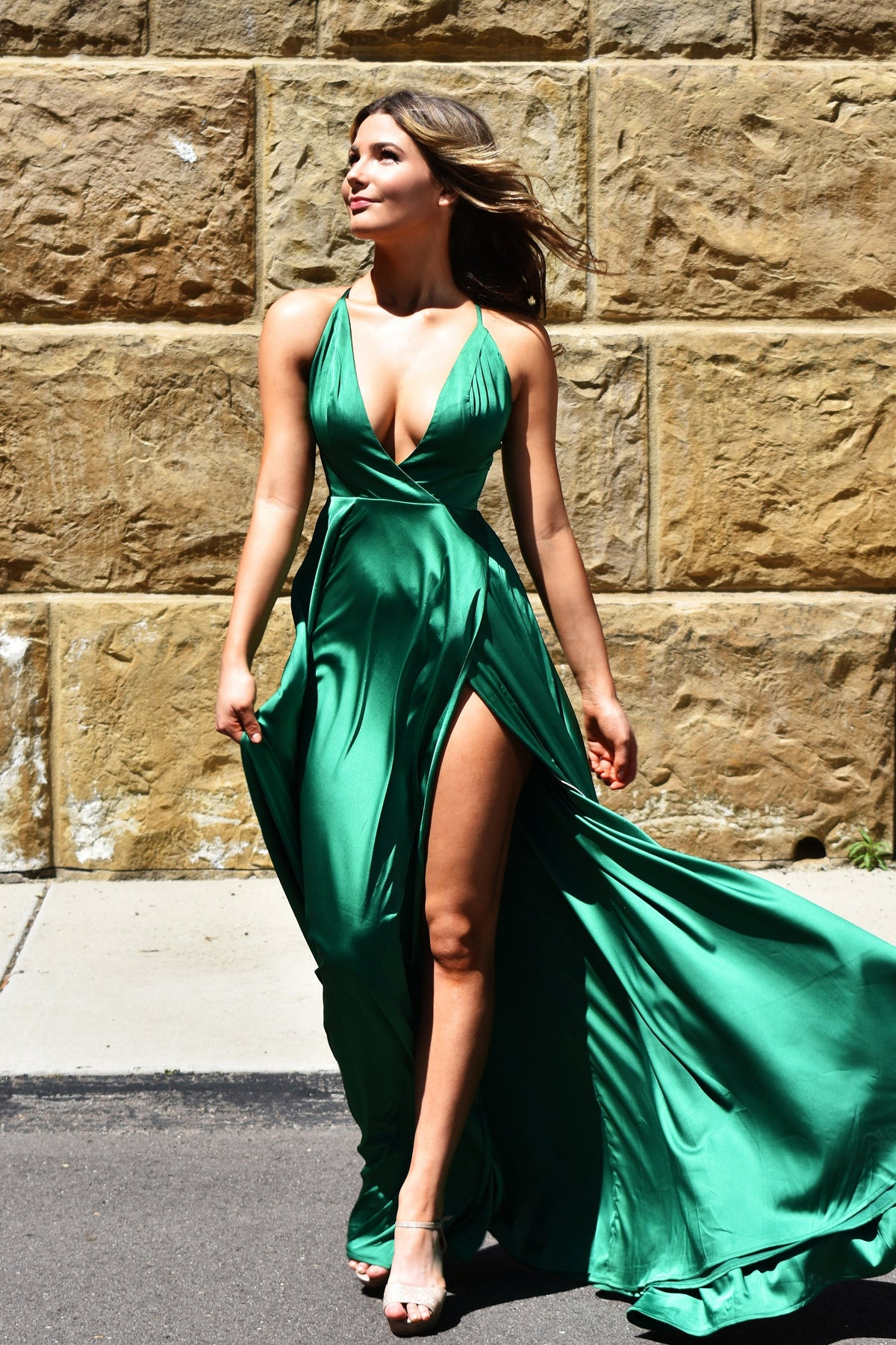 rene the label green molly gown