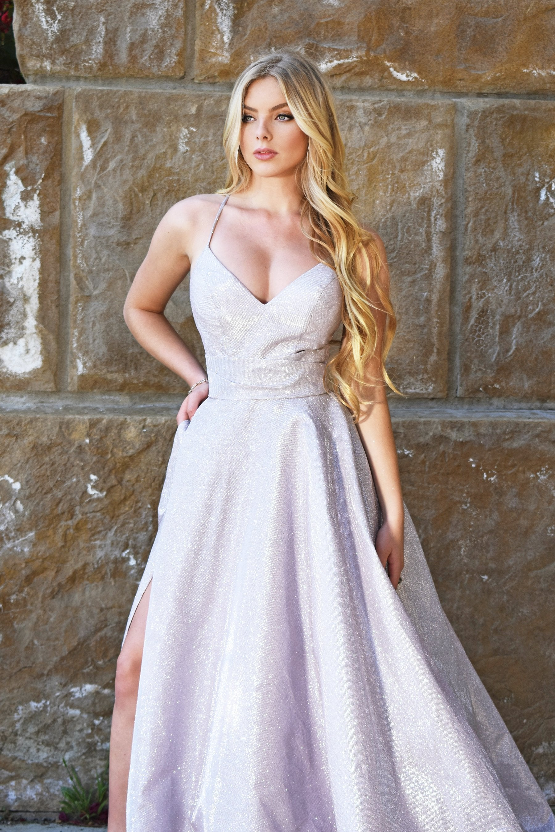 rene the label sparkle prom dress
