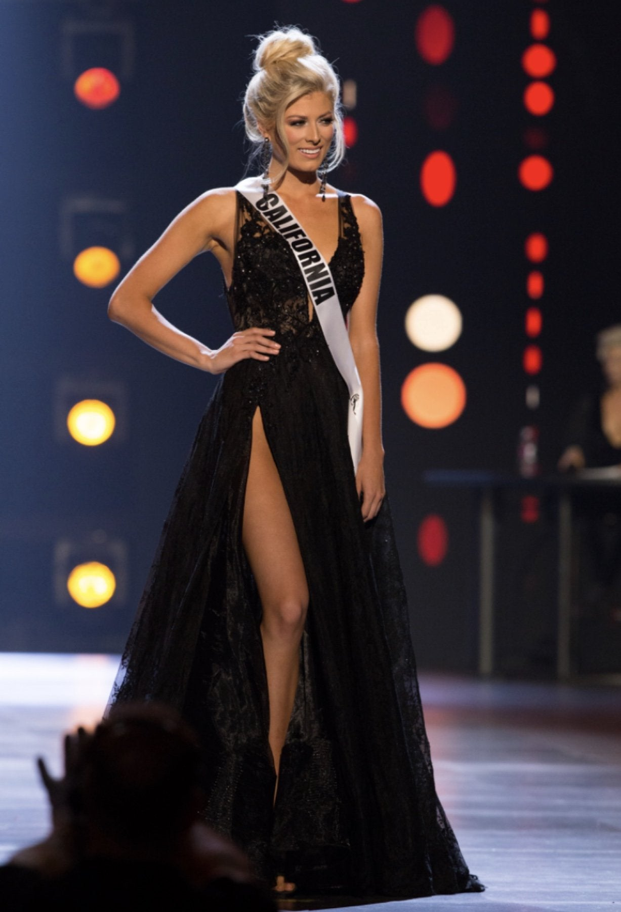 miss california usa 2018 black gown