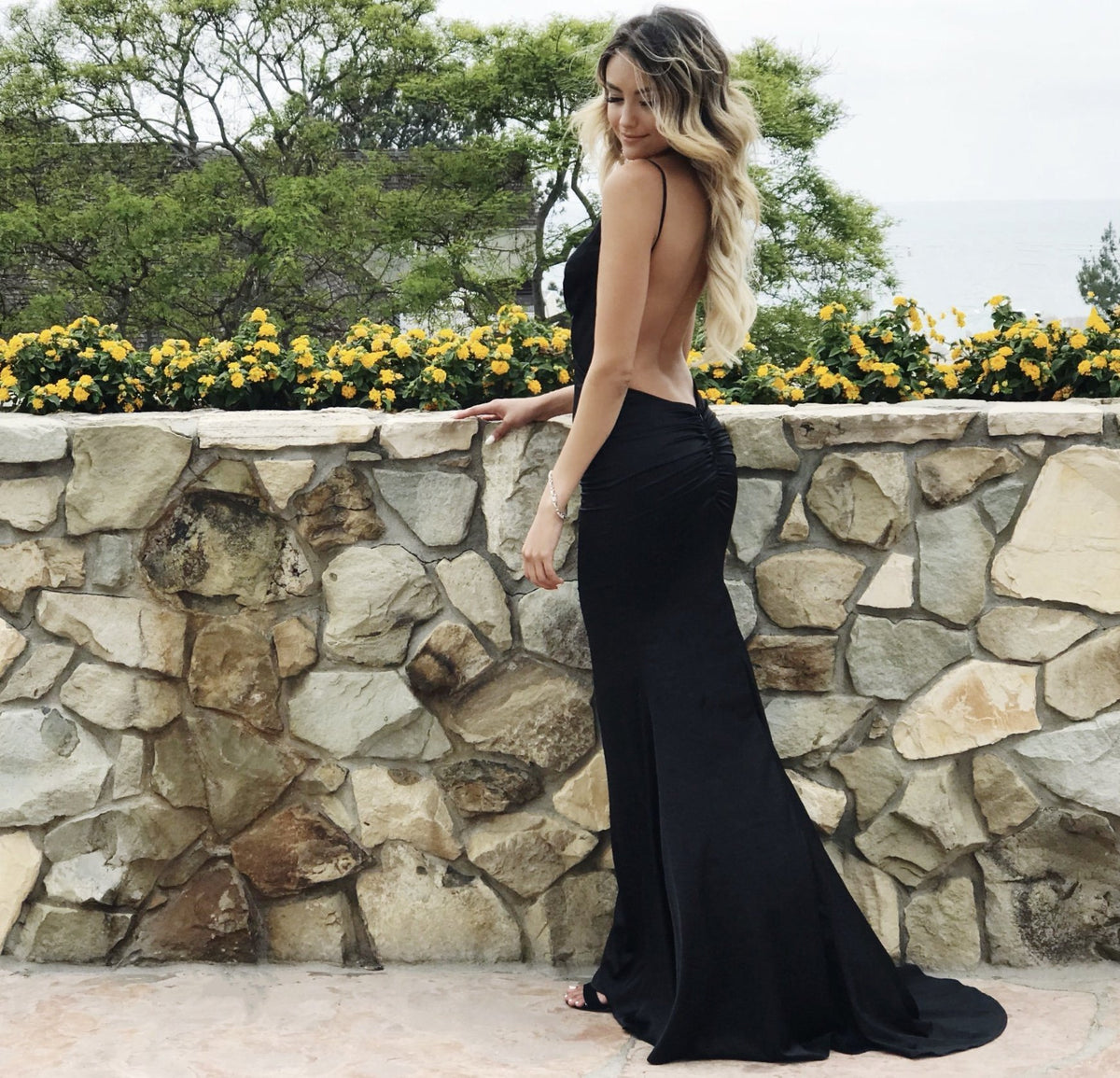 rêne atelier low back black dress