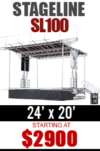 Mobile Stage Rental Stageline SL100
