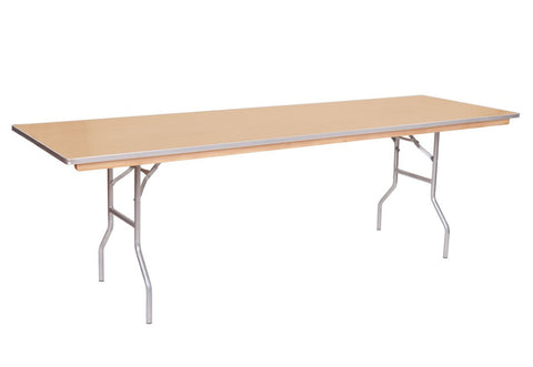 "8' x 30"" Wooden Banquet Table"