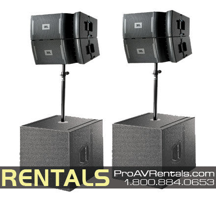 JBL VRX Line Array Speaker Package Rental