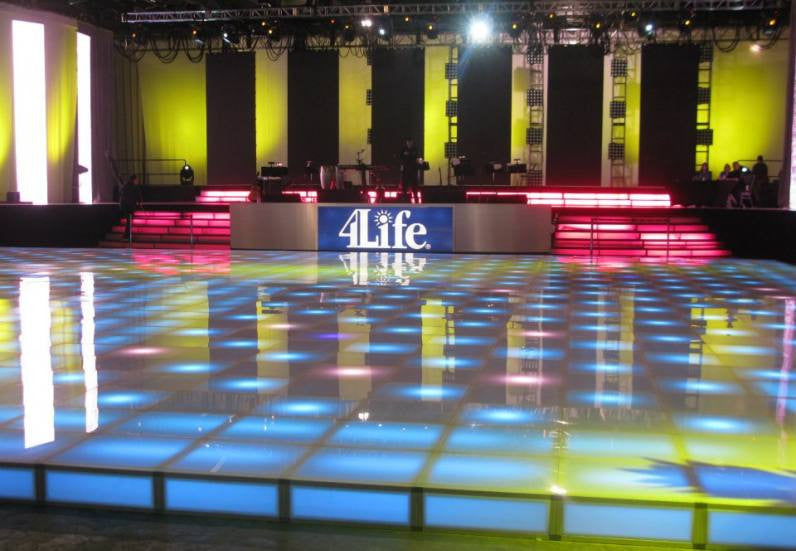 Rent Led Dancefloor Acrylic Stage Riser Rental Lighted