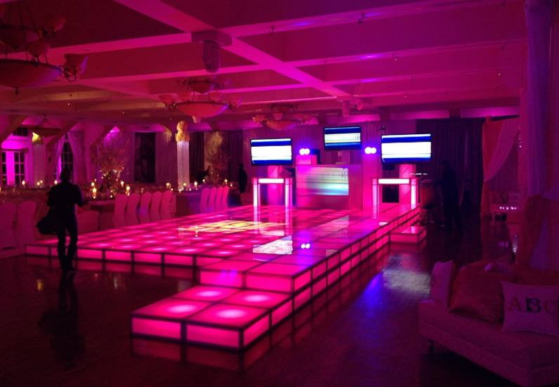 LED Acrylic Platform Riser - 24in x 24in x 8in High Section - PRO-LED & Rent LED Dancefloor Acrylic Stage Riser Rental - Lighted Dance ... azcodes.com
