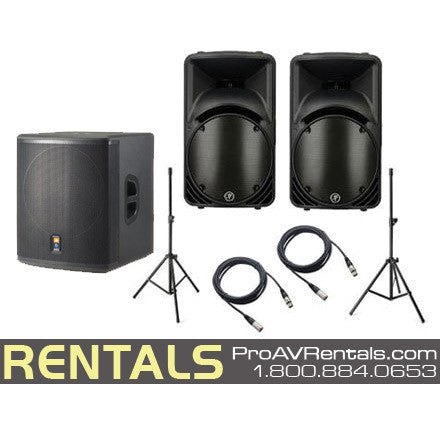 Pro Party Speaker System Subwoofer Package Rental